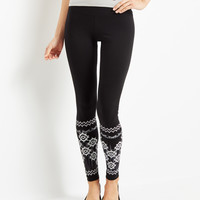 Aeropostale Womens Invite Only Exotic Floral Leggings - Black,