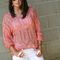 City Of Lights Sweater {Coral}