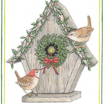 Wrenhouse Holiday Note Card