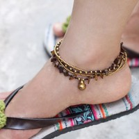 Tiger Eye Gypsy Layer Anklet