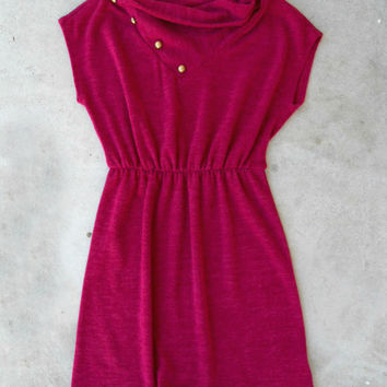.Raspberry Knit Dress [4946] - $35.70 : Vintage Inspired Clothing & Affordable Dresses, deloom | Modern. Vintage. Crafted.