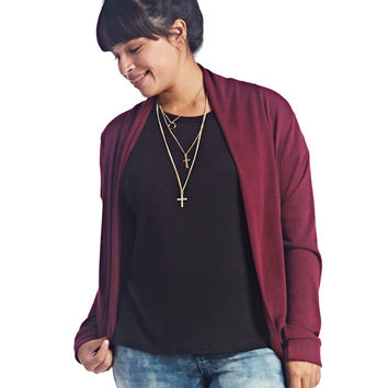 Cocoon Open Cardi | Wet Seal+