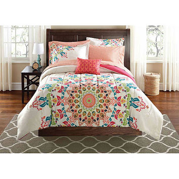 Walmart Mainstays Bed-in-a-Bag Bedding Set
