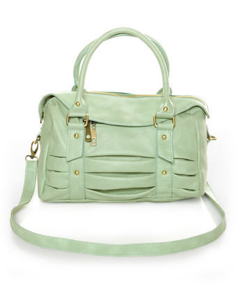 Pretty Sage Green Handbag - Mint Green Handbag - Mint Purse - $41.00