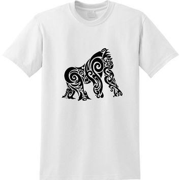 Gorilla Tribal Tattoo tshirt for men