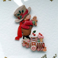 Christmas Card - Happy Christmas Hand-Crafted 3D Decoupage Card - Happy Christmas (1786)