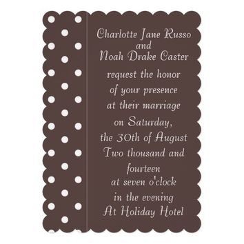 Chocolate Brown Wedding Invitation Template