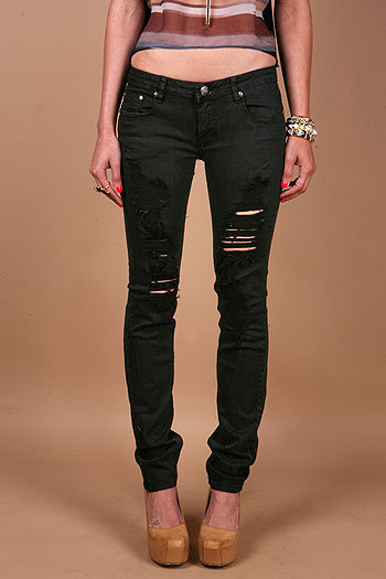 Nightfall Torn Skinnys - Skinny Denim at Pinkice.com