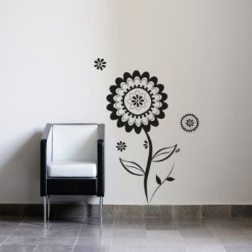 Tribal flower - G Direct Wall Stickers