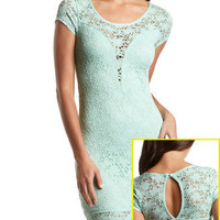Crochet Lace Body-Con Dress