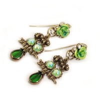Baby Owls Earrings / Green - The Afternoon