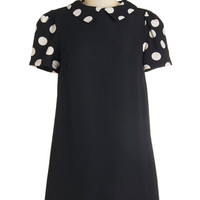 ModCloth Vintage Inspired Short Short Sleeves Shift Classic Cutie Dress