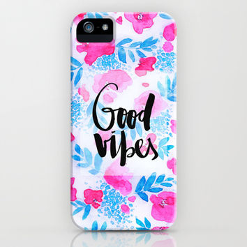 Good Vibes Collaboration by Jacqueline Maldonado and Galaxy Eyes iPhone & iPod Case by Jacqueline Maldonado