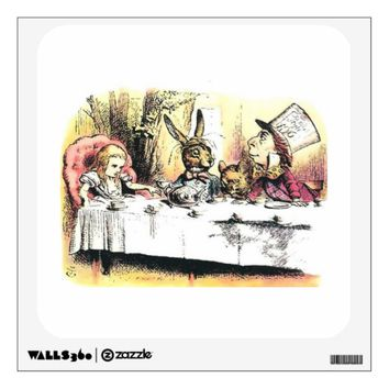 Alice in Wonderland Mad Tea Party Wall Decal