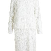 CHLOÉ | Textured Dress with Fringe Detail | Browns fashion & designer clothes & clothing