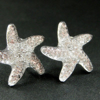 Starfish Earrings. Star Earrings with Silver Stud Earring Backs