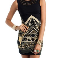 studded-tribal-dress BLACKGOLD - GoJane.com