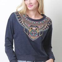 Stitched Soft Knit Pullover Top