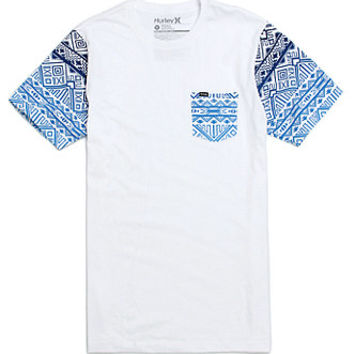 Hurley Navatec Pocket T-Shirt  Mens Tee  White -
