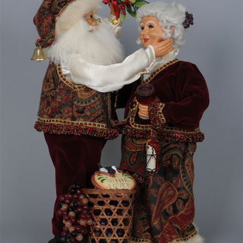 Wine Lover Santa and Mrs Claus - Karen Didion CC19-02