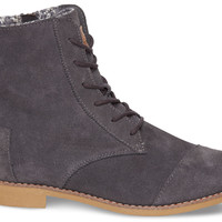DARK GREY SUEDE WOMEN'S ALPA BOOTS