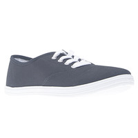 Basic Lace-up Canvas Sneakers | Wet Seal