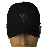 Warrior Dragon Embroidered Hats from Zazzle.com