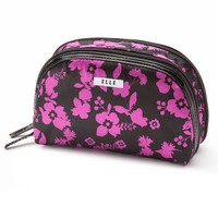 ELLE Cosmetics Floral Round Top Cosmetic Case
