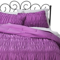 Xhilaration® Ruched Textured Comforter Set - Orchid