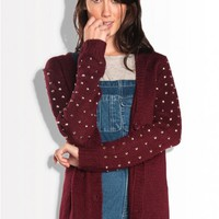studded knit cardigan