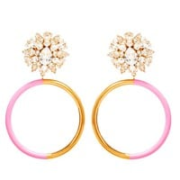 SHOUROUK | Crystal Hoop Earrings | Browns fashion & designer clothes & clothing