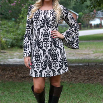 Gossip Girl Dress: Black/Taupe - Off the Racks Boutique