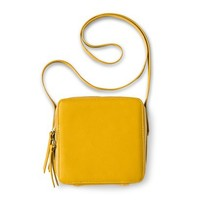 Women's Square Flat Crossbody Handbag - Yellow