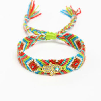 Colorful Charmed Tribal Bracelet - LoveCulture