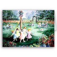Dancing Round The Maypole Cards from Zazzle.com