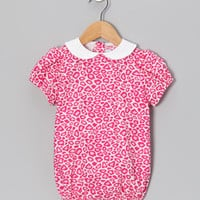 Pink Leopard Puff-Sleeve Bubble Bodysuit - Infant | Something special every day
