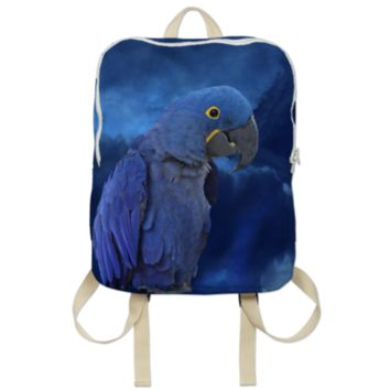Hyacinth Macaw Backpack created by ErikaKaisersot | Print All Over Me