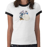 Snow White Dancing with Dwarves Disney T Shirt from Zazzle.com