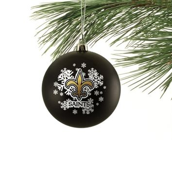 New Orleans Saints Shatter-Proof Snowflake Ball Ornament