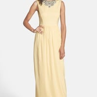 Ted Baker London 'Neliosa' Embellished Crepe Gown