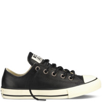 Converse - Chuck Taylor Leather 4-12 yr - Low - Black