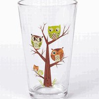 Whoooooooo Pint Glass by GAMA-GO Owl