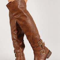 Angelica-02h Round Toe Thigh High Riding Boot
