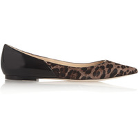 Jimmy Choo | Alina leopard-print calf hair and patent-leather pumps | NET-A-PORTER.COM