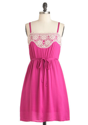 Tulle Clothing Fuchsia Perfect Dress | Mod Retro Vintage Dresses | ModCloth.com