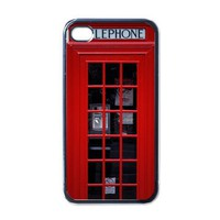 Apple iPhone Case - British Red Telephone Booth - iPhone 4 Case Cover | Merchanstore - Accessories on ArtFire