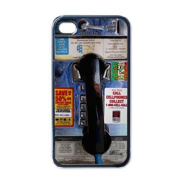 Apple iPhone Case - Public Phone Booth Unique - iPhone 4 Case Cover | Merchanstore - Accessories on ArtFire