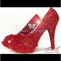 Red All Over by MDNY Heels