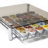 Deluxe Glass Coffee Drawer for Keurig Single Serve Kcups Holds 35 K-cups By Fevodesign:Amazon:Kitchen & Dining