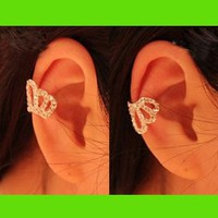 Princess's Tiara Rhinestone Ear Cuff (Single, No Piercing)